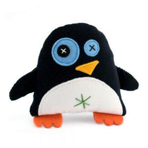 mini penguin, black & white, cotton corduroy, wool felt, handmade soft toys, unique kids gift, antalou, born in athens
