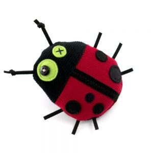 ladybug, antalou handmade soft toy, pin, finger puppet, red black, athens