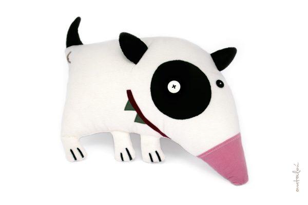 bull terrier, handmade soft toys _ pet hugs - antalou