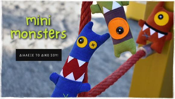 mini monsters antalou handmade soft toys