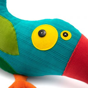 blue toucan_ plush toys for kids and homedecor_by antalou