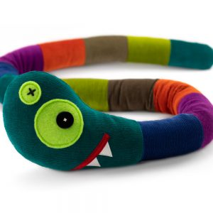 colorful snake handmade soft toy