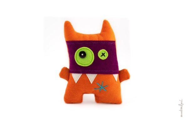 mini masked orange monster _by antalou handmade soft toys