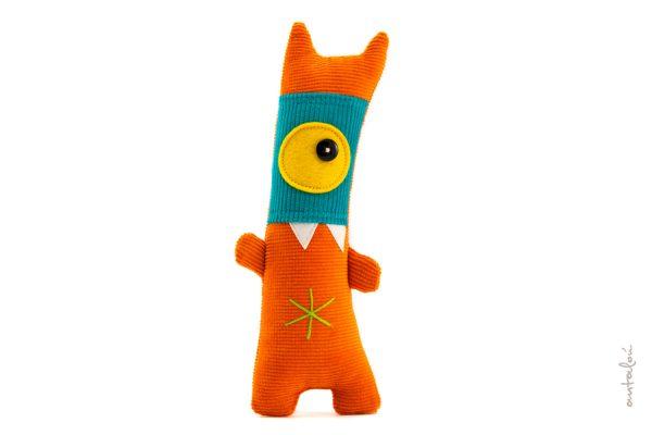 mini masked antalou monster orange turquoise