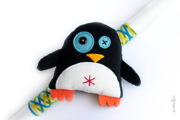 χειροποίητη λαμπάδα πιγκουίνος_ antalou