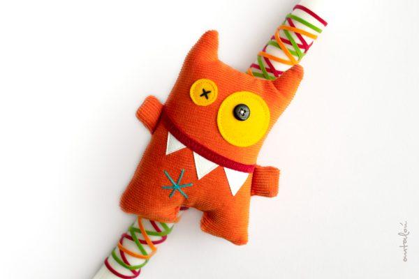 λαμπάδα mini orange monster
